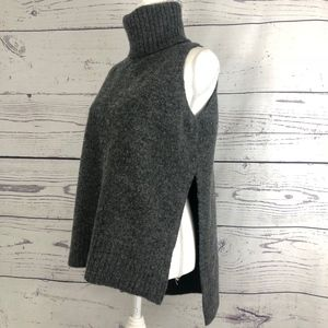 C/MEO COLLECTION Open Side High Lo Wool Sweater M